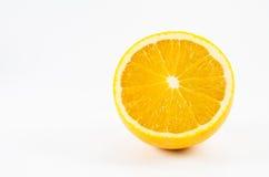 Oranje fruit op wit Stock Afbeelding
