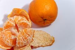 Oranje Fruit op Witte Achtergrond stock foto's