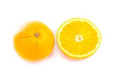 Oranje Fruit op Witte Achtergrond Royalty-vrije Stock Afbeeldingen