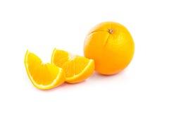 Oranje Fruit op Witte Achtergrond Stock Afbeelding