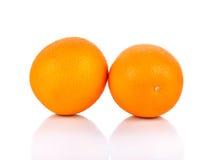 Oranje Fruit op Witte Achtergrond Royalty-vrije Stock Fotografie