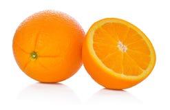 Oranje Fruit op Witte Achtergrond Royalty-vrije Stock Foto's