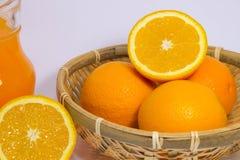 Oranje Fruit op Witte Achtergrond Royalty-vrije Stock Afbeelding