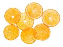 Oranje fruit. Plakken op wit. Achtergrond Royalty-vrije Stock Foto's