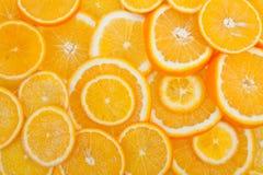 Oranje fruitachtergrond Royalty-vrije Stock Afbeelding
