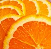 Oranje fruitachtergrond Stock Afbeelding