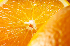Oranje fruitachtergrond Macro Royalty-vrije Stock Foto