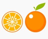 Oranje fruitplak stock illustratie