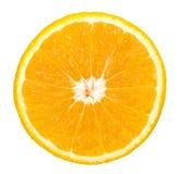 Oranje fruitplak Stock Foto