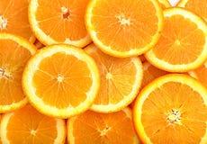 Oranje fruitplakken Royalty-vrije Stock Afbeeldingen