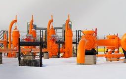 Oranje gaspijp Stock Afbeelding
