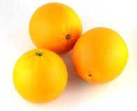 Oranje geïsoleerd fruit stock afbeeldingen