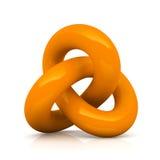 Oranje geïsoleerde oneindigheidsknoop Royalty-vrije Stock Afbeelding