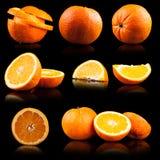 Oranje geïsoleerdt fruit stock fotografie