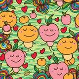 Oranje gekke naadloos van Apple Royalty-vrije Stock Afbeelding