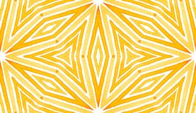 Oranje Geometrische Waterverf Gevoelig Naadloos Klopje royalty-vrije stock fotografie