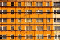 Oranje geprefabriceerd huis Royalty-vrije Stock Foto