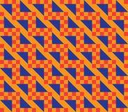 Oranje geruit patroon Stock Foto