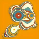 Oranje gesneden vorm De computer produceerde abstracte geometrische 3D teruggeeft illustratie royalty-vrije illustratie