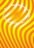 Oranje gestreepte achtergrond Royalty-vrije Stock Afbeelding