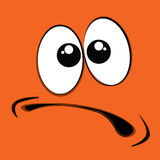 Oranje gezicht Stock Afbeelding