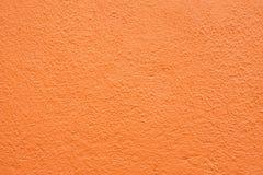 Oranje gipspleistermuur Stock Fotografie