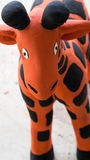 Oranje Giraf Clay Doll royalty-vrije stock fotografie