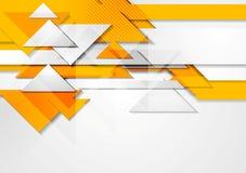 Oranje glanzende hi-tech motieachtergrond Stock Afbeelding