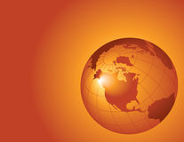 Oranje globale achtergrond royalty-vrije illustratie