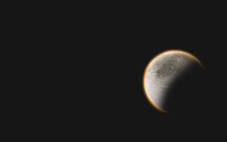 Oranje gloedplaneet Stock Afbeelding