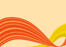 Oranje golven Stock Afbeelding
