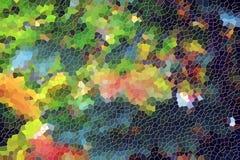 Oranje gouden blauwe gele vierkanten Kleurrijk patroon, ontwerp Royalty-vrije Stock Foto's