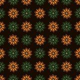 Oranje groene bloemen stock illustratie