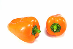 Oranje Groene paprika's Royalty-vrije Stock Foto