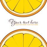 Oranje groetkaart. Stock Fotografie
