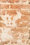Oranje grungemuur Stock Afbeelding