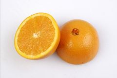 Oranje half Fruit stock afbeelding