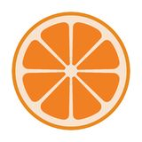 Oranje half vers gezond fruit vector illustratie