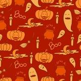 Oranje Halloween-achtergrond Stock Fotografie