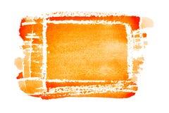 Oranje hand getrokken rechthoek stock illustratie