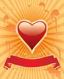 Oranje hart Stock Afbeelding
