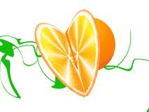Oranje hart Royalty-vrije Stock Fotografie