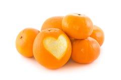 Oranje hart Royalty-vrije Stock Foto