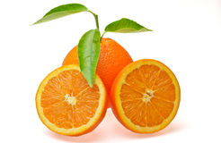 Oranje hart Stock Foto