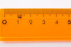 Oranje heersersclose-up Royalty-vrije Stock Afbeeldingen