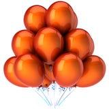 Oranje heliumballons (Huren) Stock Afbeeldingen