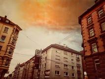 Oranje Hemel stock foto