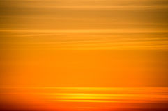 Oranje hemel bij zonsondergang Stock Foto