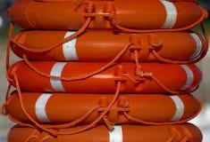 Oranje het levensringen Stock Afbeelding