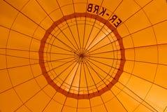 Oranje hete luchtballon Royalty-vrije Stock Afbeeldingen